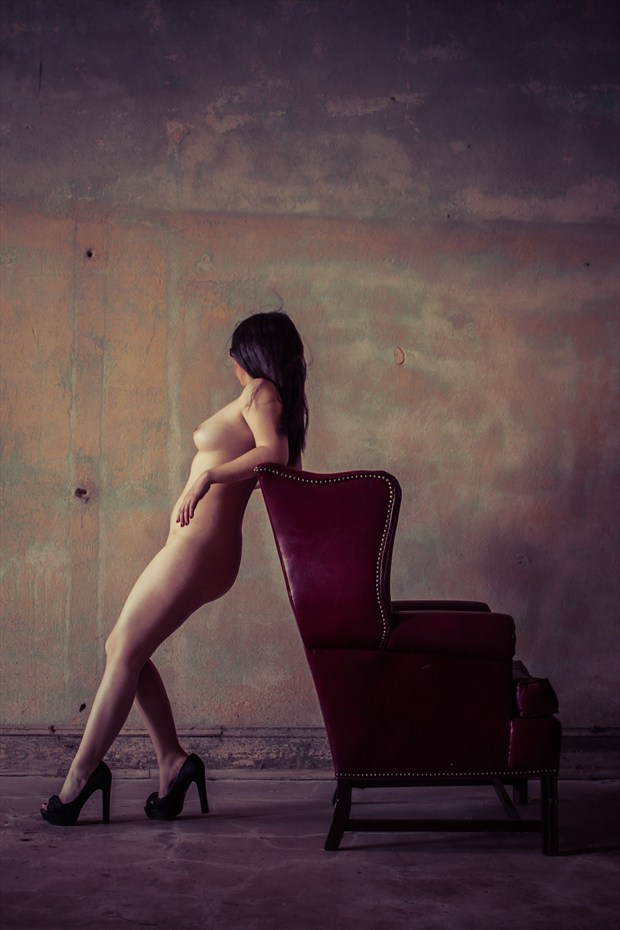 Well on Heels Artistic Nude Photo print by Photographer Frisson Art