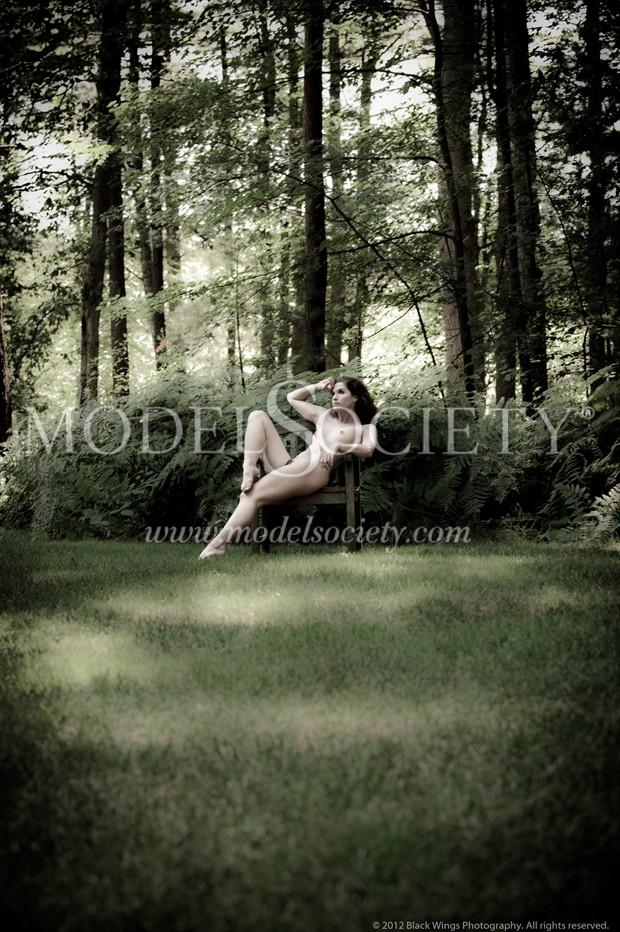 What if happy found me here Artistic Nude Photo print by Photographer Black Wings