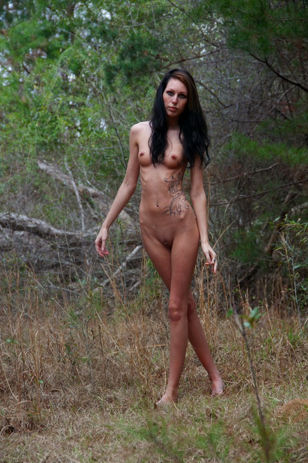 Willow in the Clearing Artistic Nude Photo print by Photographer Leland Ray