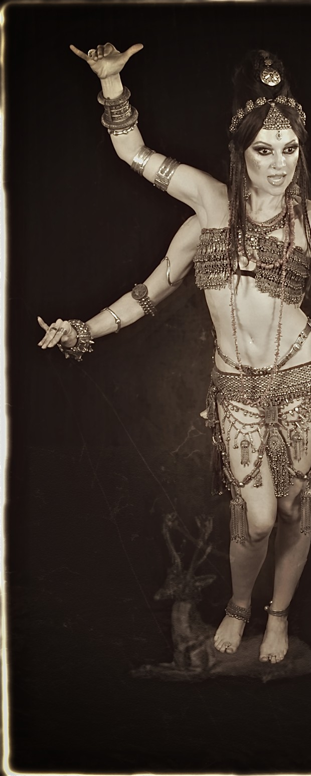 Yogini Vintage Style Photo print by Photographer Scott Belding