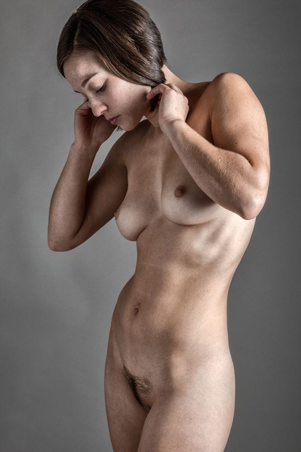 a slender rose artistic nude photo print by photographer rick jolson