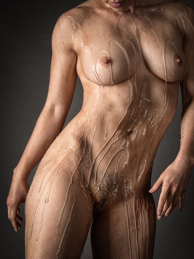 a sticky situation artistic nude photo print by photographer rick jolson