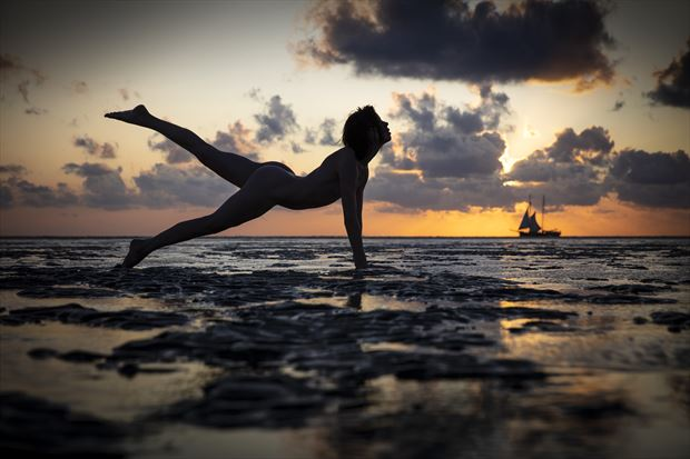 a wadden event artistic nude photo print by photographer louis sauter