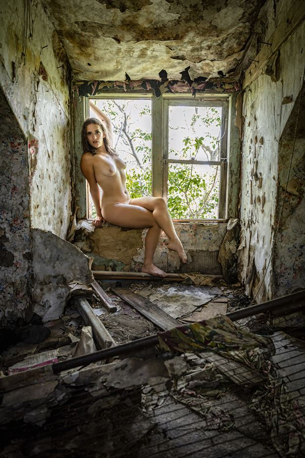 abandoned 1 artistic nude photo print by photographer ken greenhorn