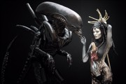 alien love Body Painting Photo print by Photographer Andrea Peria