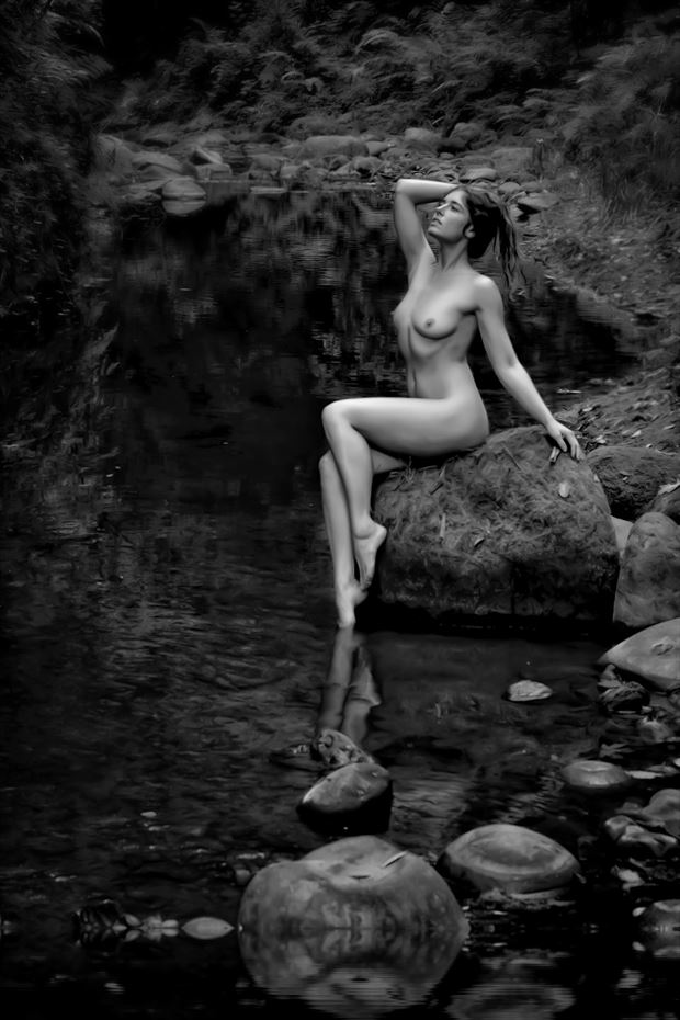 allure of the siren artistic nude photo print by photographer philip turner
