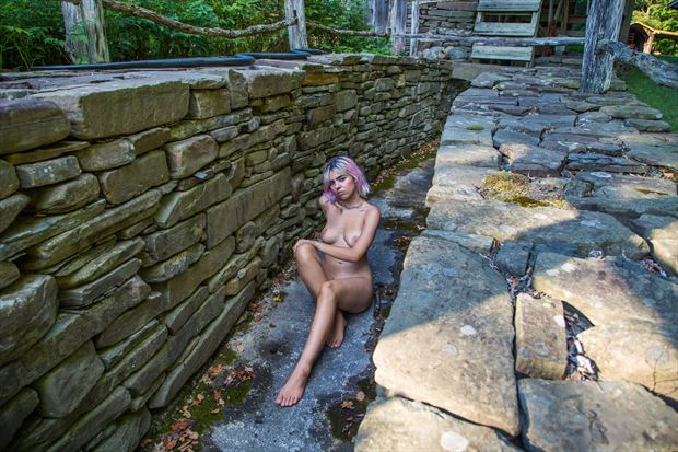 aquaduct artistic nude photo print by photographer michael grace martin