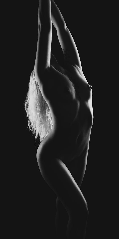 ardha chakrasana artistic nude photo print by photographer intimate images