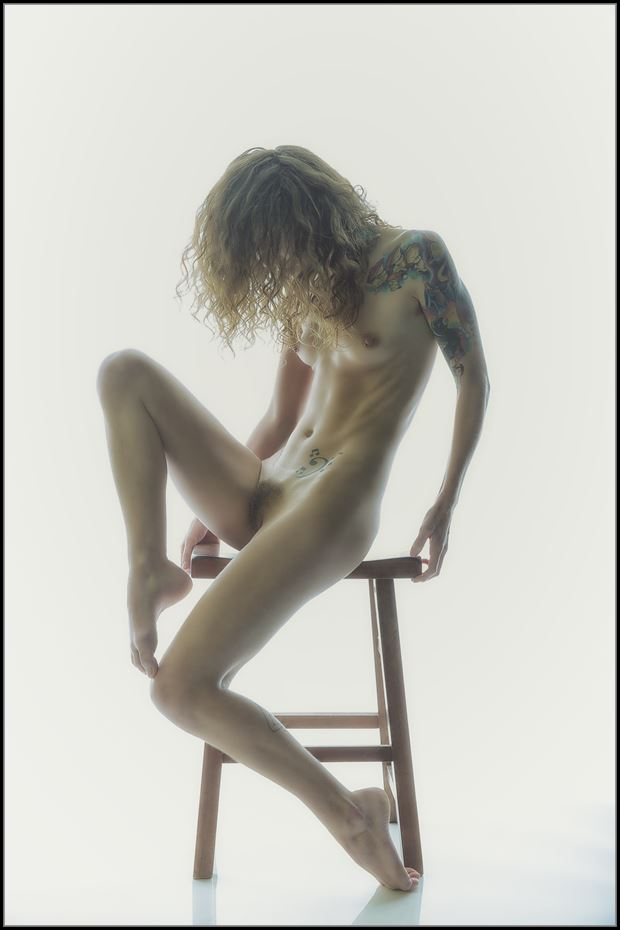 artistic nude alternative model photo print by photographer magicc imagery