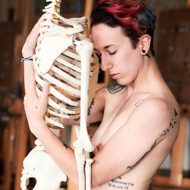 artistic nude expressive portrait photo print by photographer teb art photo
