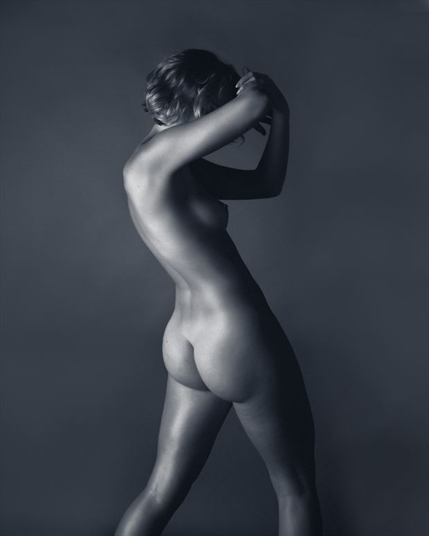 artistic nude figure study photo print by photographer aj kahn