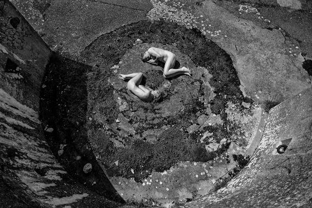 artistic nude figure study photo print by photographer chriswoodman_photo