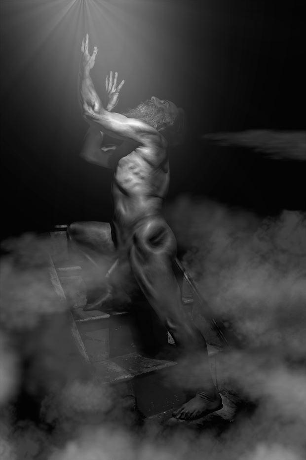 artistic nude figure study photo print by photographer photorunner