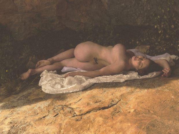 artistic nude figure study photo print by photographer tfa photography