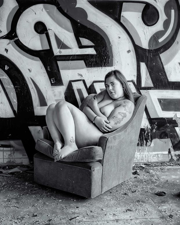 artistic nude implied nude photo print by photographer chriswoodman_photo