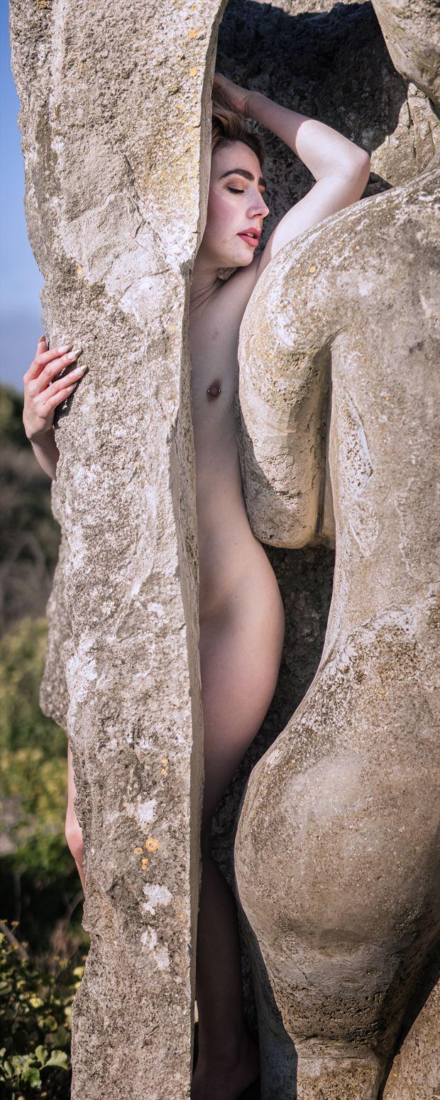 artistic nude implied nude photo print by photographer woodman chris