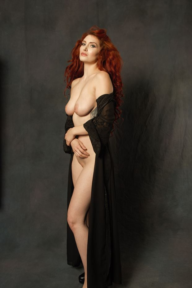 artistic nude lingerie photo print by photographer zames curran