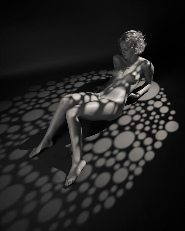artistic nude studio lighting photo print by photographer aj kahn