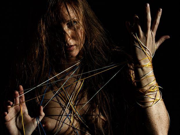 artistic nude studio lighting photo print by photographer djlphotography