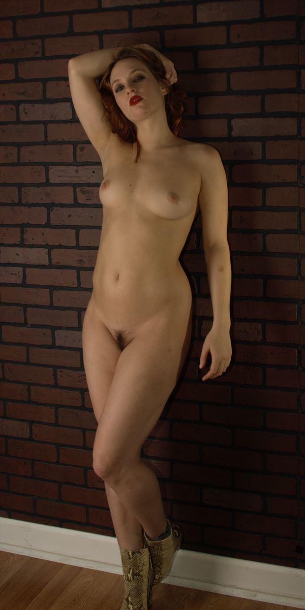 artistic nude studio lighting photo print by photographer james curran