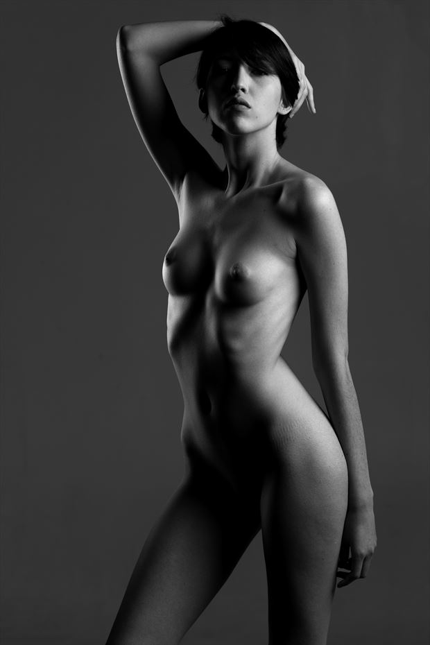 artistic nude vintage style photo print by photographer depa kote