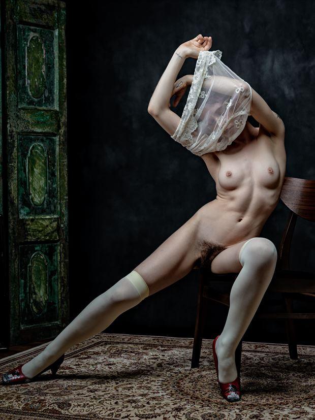 artistic nude vintage style photo print by photographer nine80photos