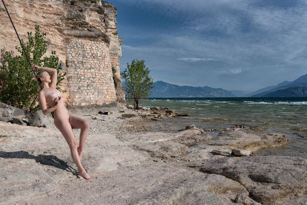 at nude at lake garda artistic nude photo print by photographer colin dixon