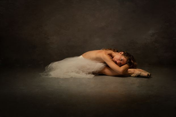 at rest en pointe 2 artistic nude photo print by photographer doc list