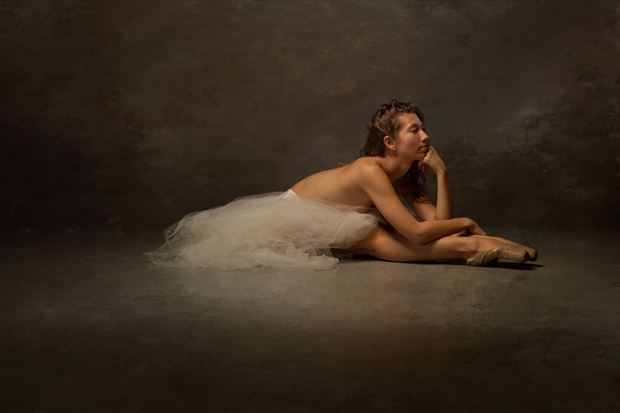 at rest en pointe artistic nude photo print by photographer doc list