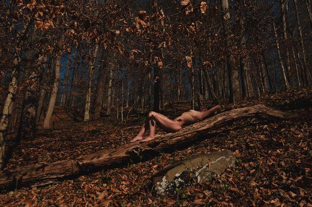 autumn artistic nude photo print by photographer ajharter