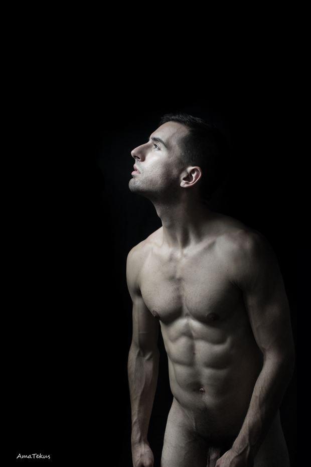 awakening artistic nude photo print by model coma12