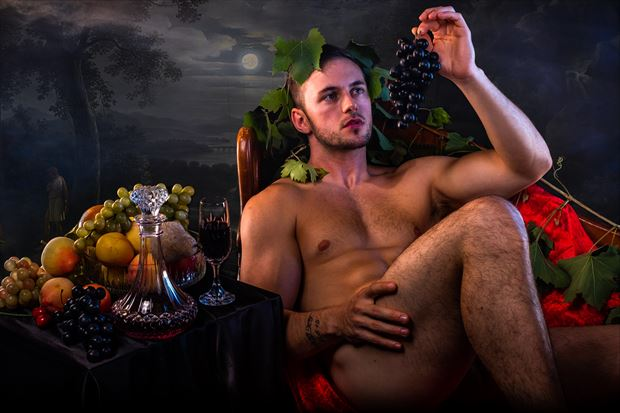bacchus continues his revels by moonlight artistic nude photo print by photographer jbdi