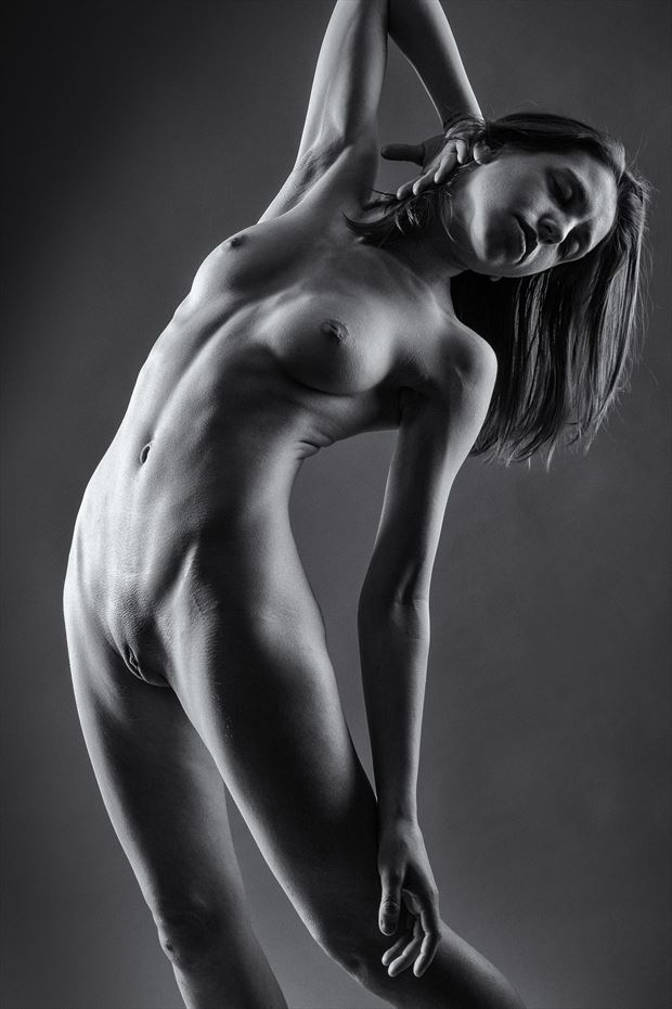 back bend artistic nude photo print by photographer rick jolson