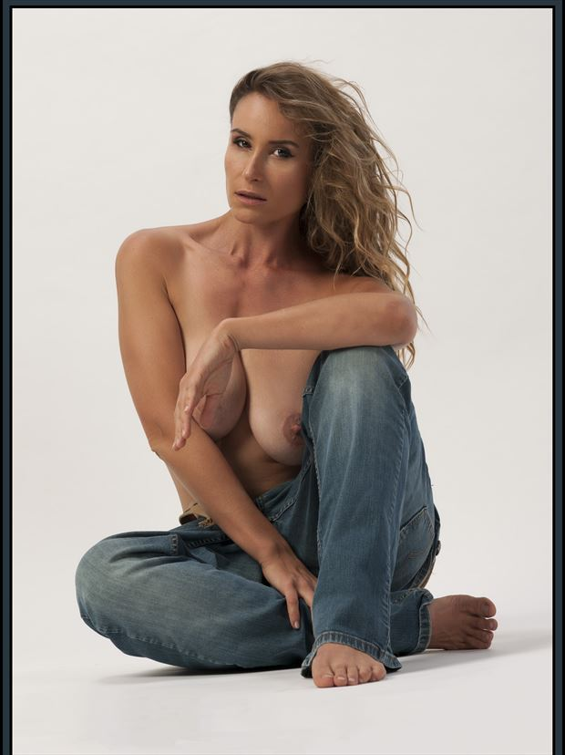 bagging jeans artistic nude photo print by photographer tommy 2 s