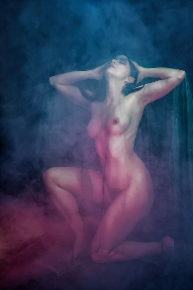 bathed in light artistic nude photo print by photographer colin dixon