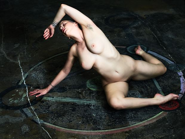be careful what you summon artistic nude photo print by photographer teb art photo