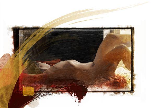 bear river 6 artistic nude photo print by artist ward george