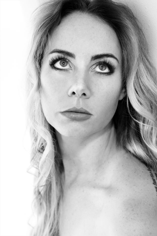beauty close up photo print by model alexandra queen