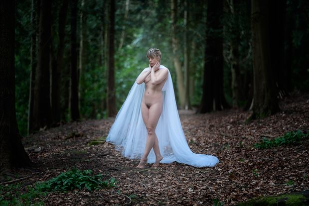 beauty of the woods artistic nude photo print by photographer colin dixon