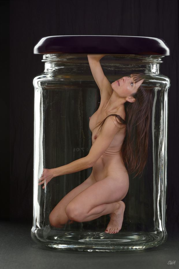 beauty trapped artistic nude photo print by photographer swaphoto