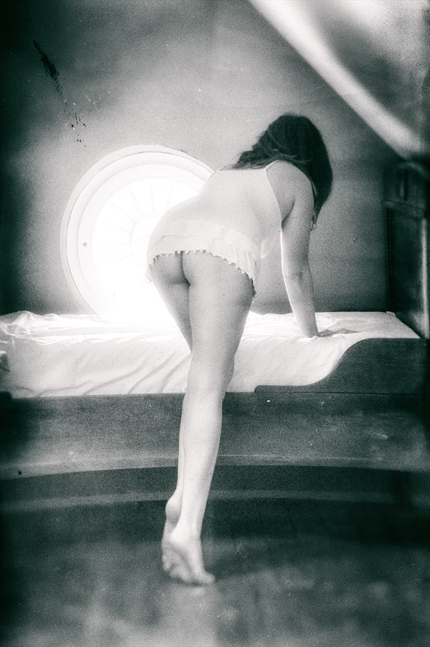 bed in the attic Artistic Nude Photo print by Photographer BenGunn