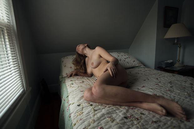 bedroom light artistic nude photo print by photographer michael grace martin