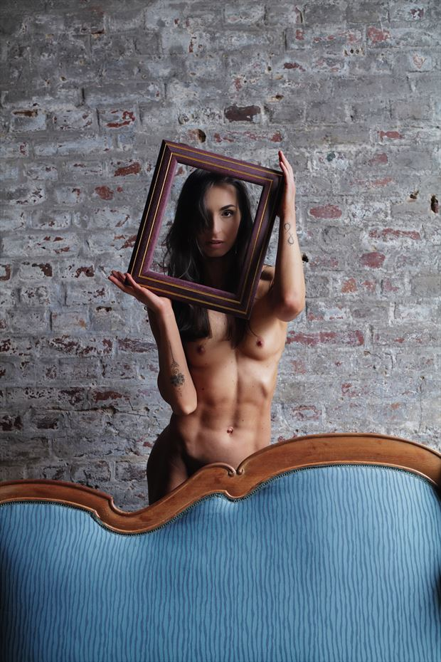 behind sensual photo print by model bia