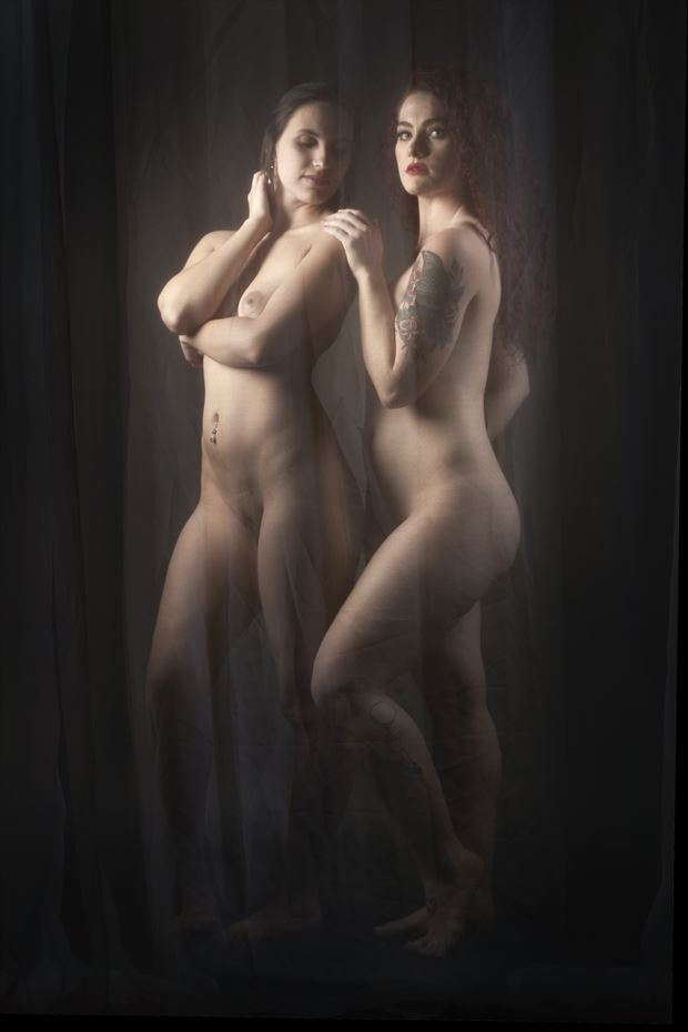 behind the veil artistic nude photo print by photographer ken greenhorn