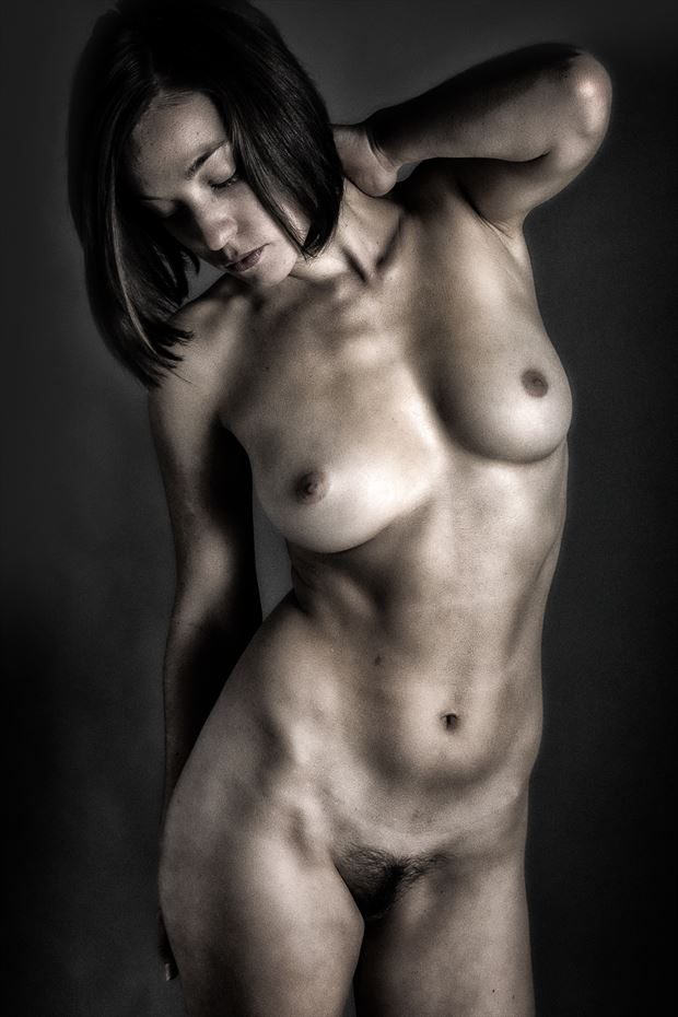 bending towards the light artistic nude photo print by photographer rick jolson
