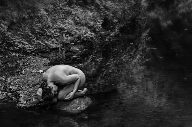 beside still waters artistic nude photo print by photographer philip turner
