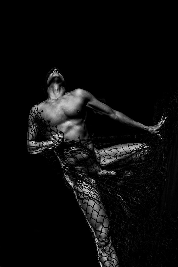 blind escape 2 artistic nude photo print by model avid light
