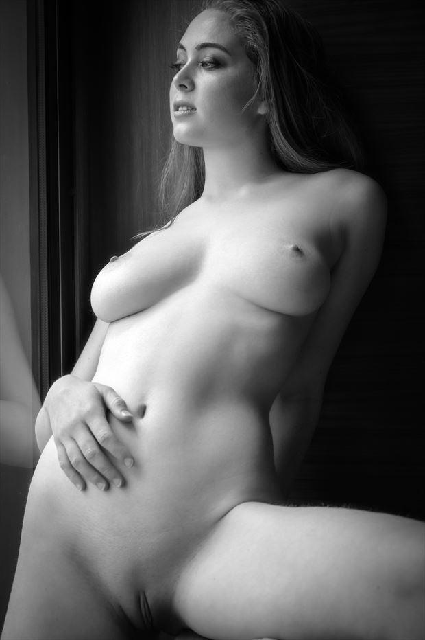 blonde model california artistic nude photo print by photographer voluptuary media