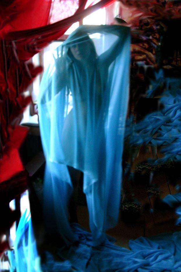blue apparition surreal photo print by photographer joseph auquier