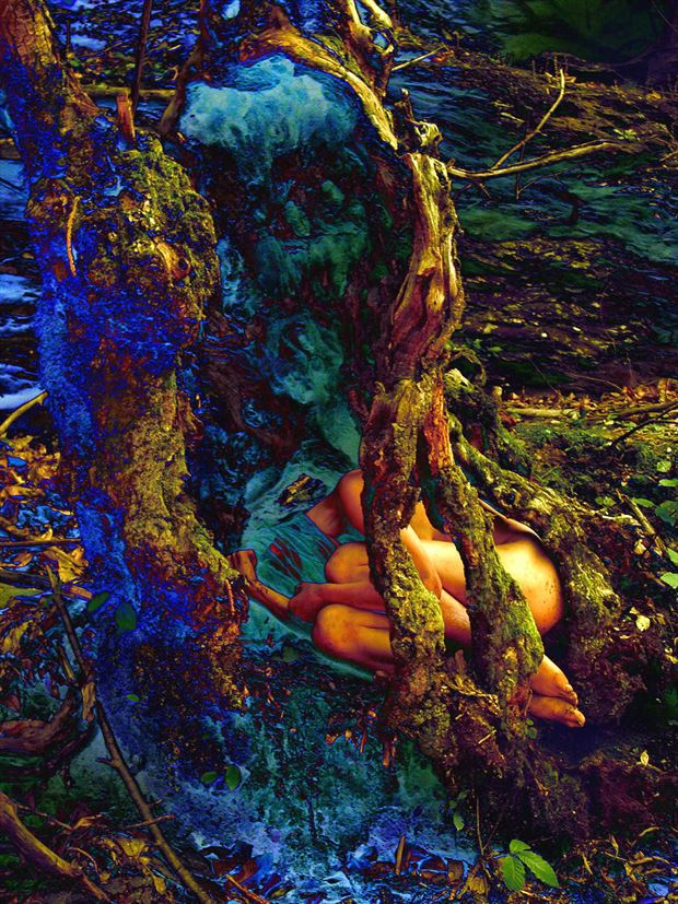 blue born artistic nude photo print by photographer joseph auquier
